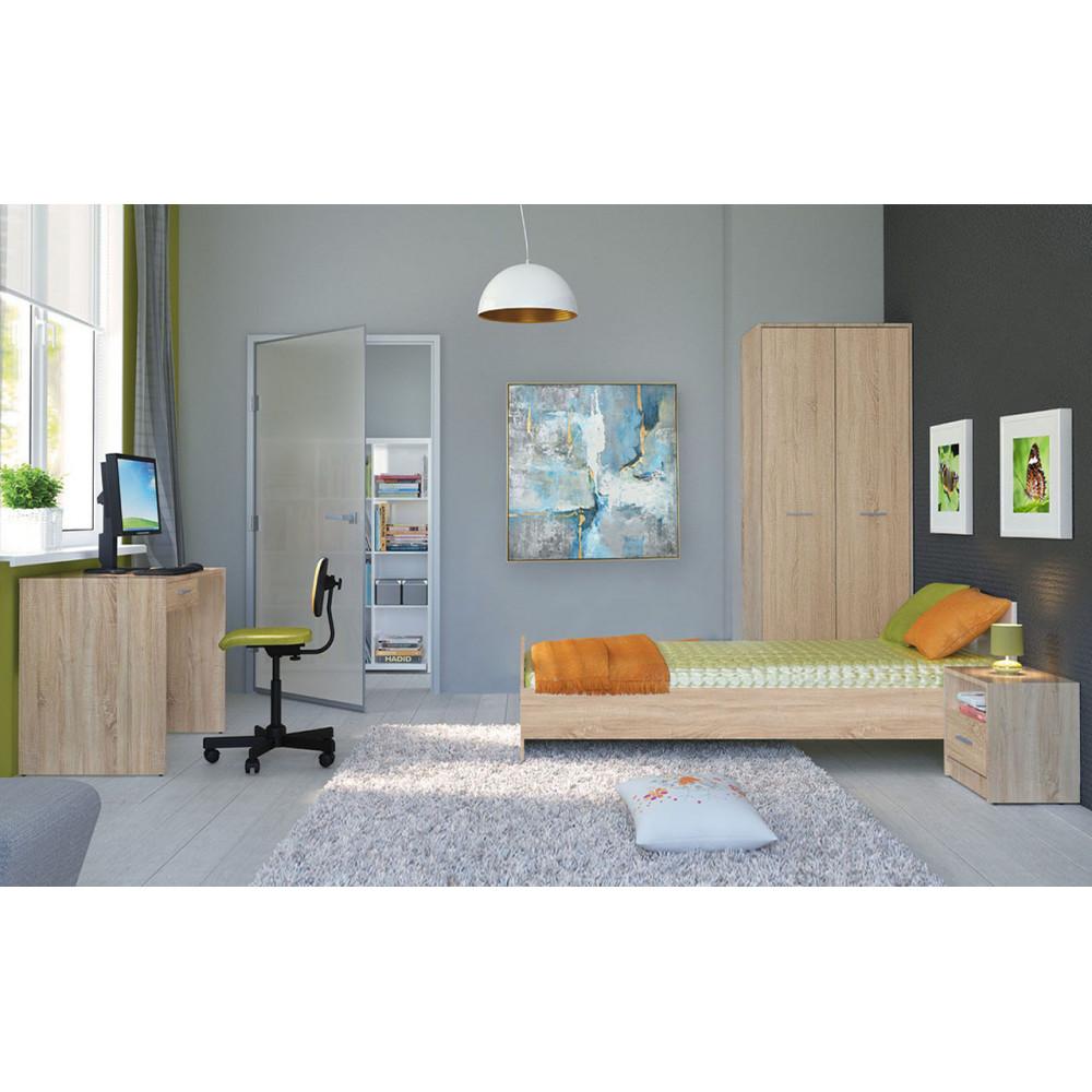 BRW Σετ Εφηβικό Δωμάτιο NEPO με κρεβάτι 90x200cm